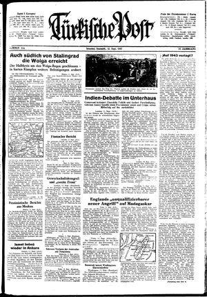 Türkische Post on Sep 12, 1942