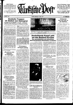 Türkische Post vom 14.09.1942