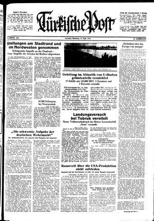 Türkische Post vom 15.09.1942