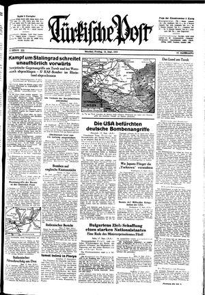 Türkische Post vom 18.09.1942