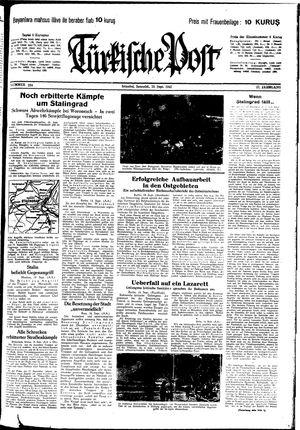 Türkische Post vom 19.09.1942