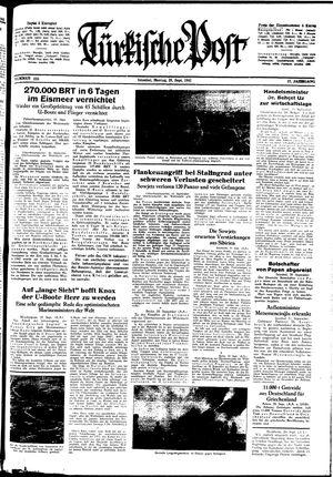Türkische Post vom 21.09.1942
