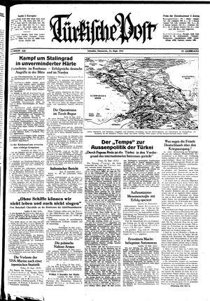 Türkische Post vom 24.09.1942