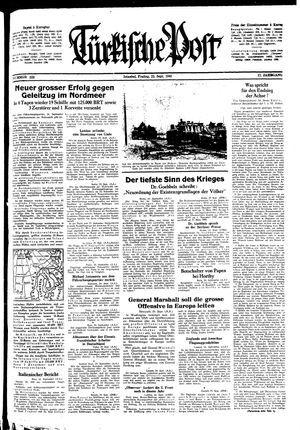 Türkische Post vom 25.09.1942