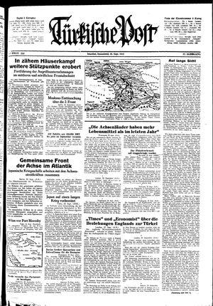 Türkische Post vom 26.09.1942