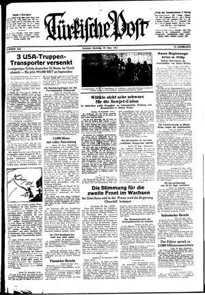 Türkische Post vom 29.09.1942