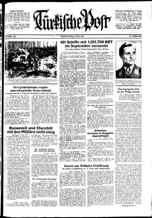 Türkische Post vom 02.10.1942