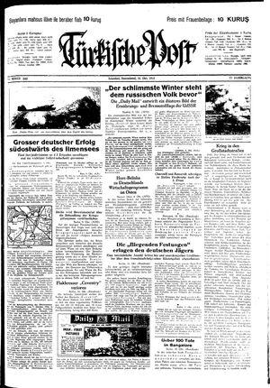 Türkische Post vom 10.10.1942