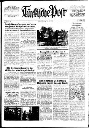 Türkische Post vom 13.10.1942