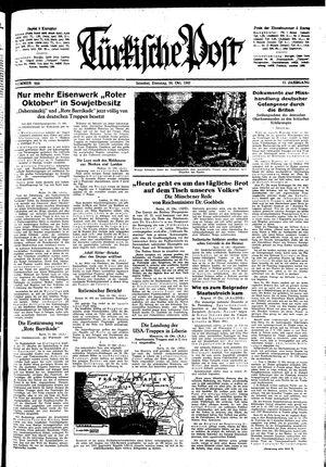 Türkische Post vom 20.10.1942