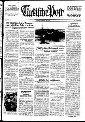 Türkische Post vom 23.10.1942