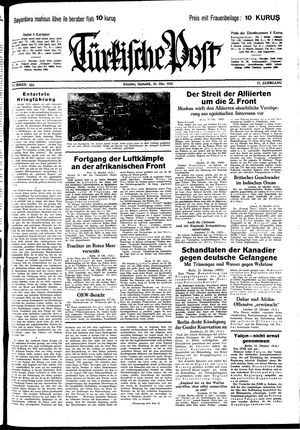 Türkische Post vom 24.10.1942
