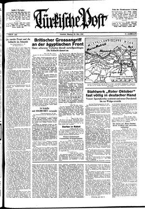 Türkische Post vom 26.10.1942