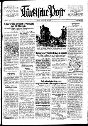 Türkische Post vom 27.10.1942