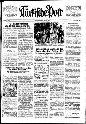 Türkische Post vom 28.10.1942