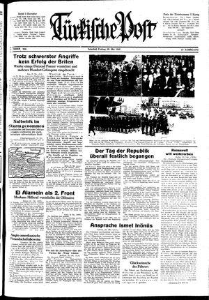 Türkische Post vom 30.10.1942