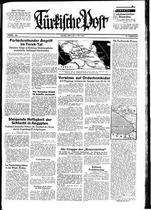 Türkische Post vom 04.11.1942