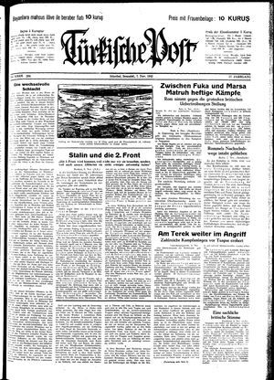 Türkische Post vom 07.11.1942
