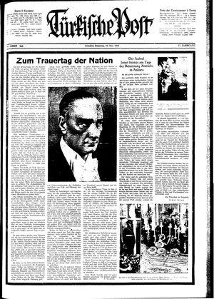 Türkische Post vom 10.11.1942