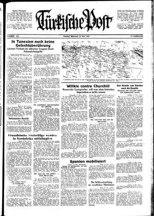 Türkische Post vom 18.11.1942