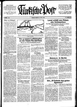 Türkische Post vom 19.11.1942