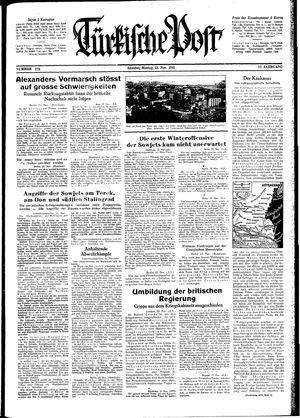 Türkische Post vom 23.11.1942