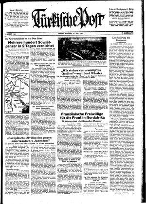 Türkische Post vom 25.11.1942