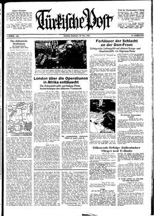 Türkische Post vom 26.11.1942