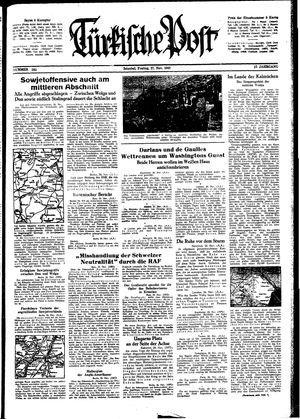 Türkische Post vom 27.11.1942