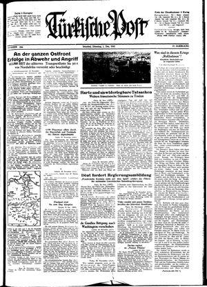 Türkische Post vom 01.12.1942