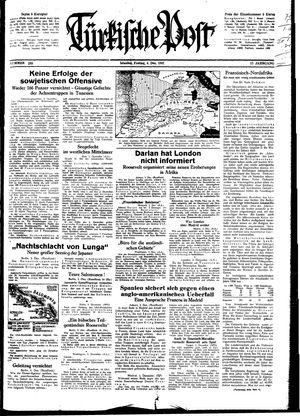 Türkische Post vom 04.12.1942