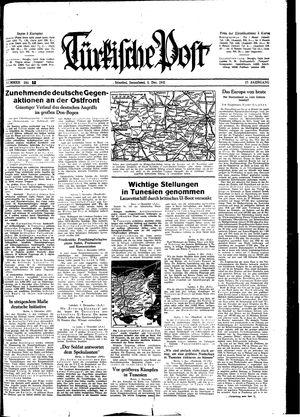 Türkische Post vom 05.12.1942