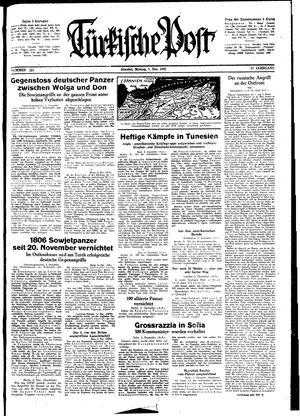 Türkische Post vom 07.12.1942
