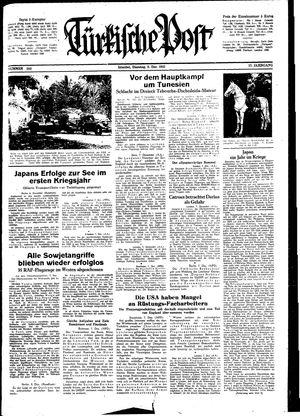 Türkische Post vom 08.12.1942