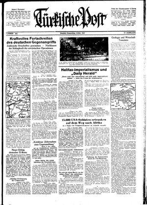 Türkische Post vom 10.12.1942