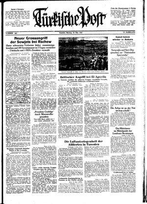 Türkische Post vom 14.12.1942