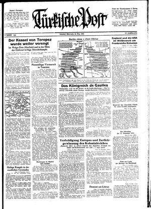 Türkische Post vom 16.12.1942