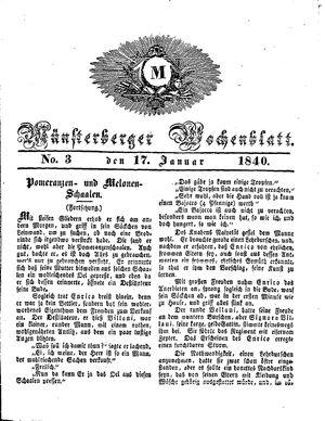 Münsterberger Wochenblatt vom 17.01.1840