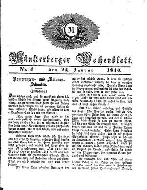 Münsterberger Wochenblatt vom 24.01.1840
