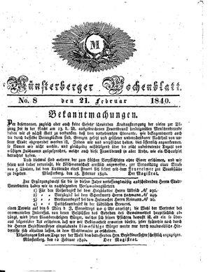 Münsterberger Wochenblatt vom 21.02.1840