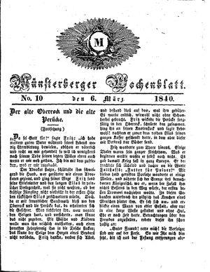 Münsterberger Wochenblatt vom 06.03.1840