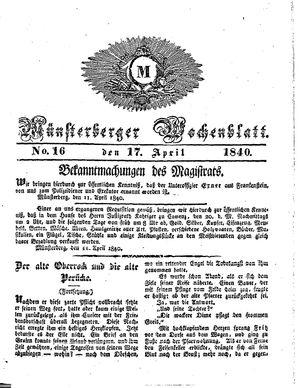 Münsterberger Wochenblatt vom 17.04.1840