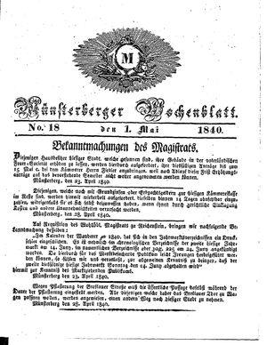 Münsterberger Wochenblatt vom 01.05.1840