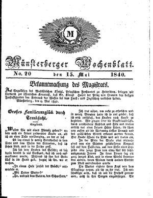 Münsterberger Wochenblatt vom 15.05.1840