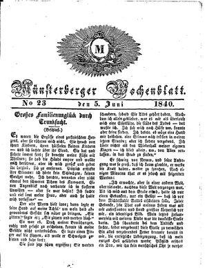 Münsterberger Wochenblatt vom 05.06.1840