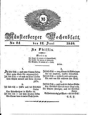 Münsterberger Wochenblatt vom 12.06.1840