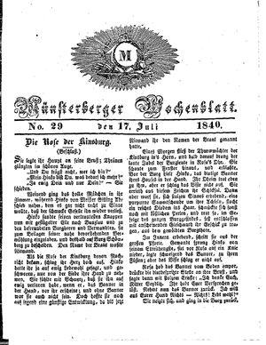 Münsterberger Wochenblatt vom 17.07.1840