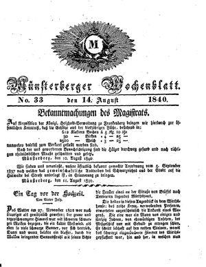 Münsterberger Wochenblatt vom 14.08.1840