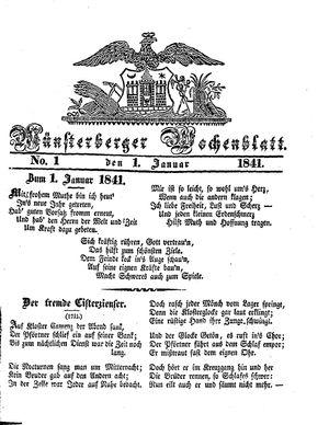 Münsterberger Wochenblatt vom 01.01.1841