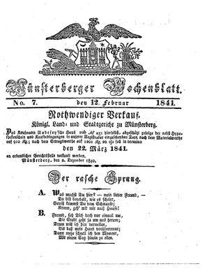 Münsterberger Wochenblatt vom 12.02.1841